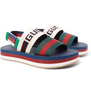 Gucci - Webbing-Trimmed Rubber Sandals - Men - Multi