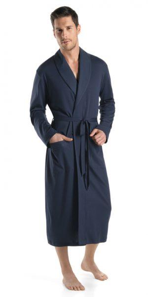 HANRO Night & Day Knit Robe - Black Iris XXL - 75438