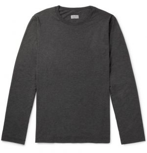 Hanro - Mélange Stretch-Jersey T-Shirt - Men - Gray