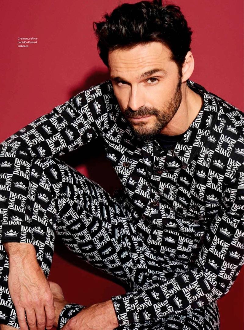 Clad in Dolce & Gabbana, Iván Sánchez stars in a photo shoot for Esquire México.