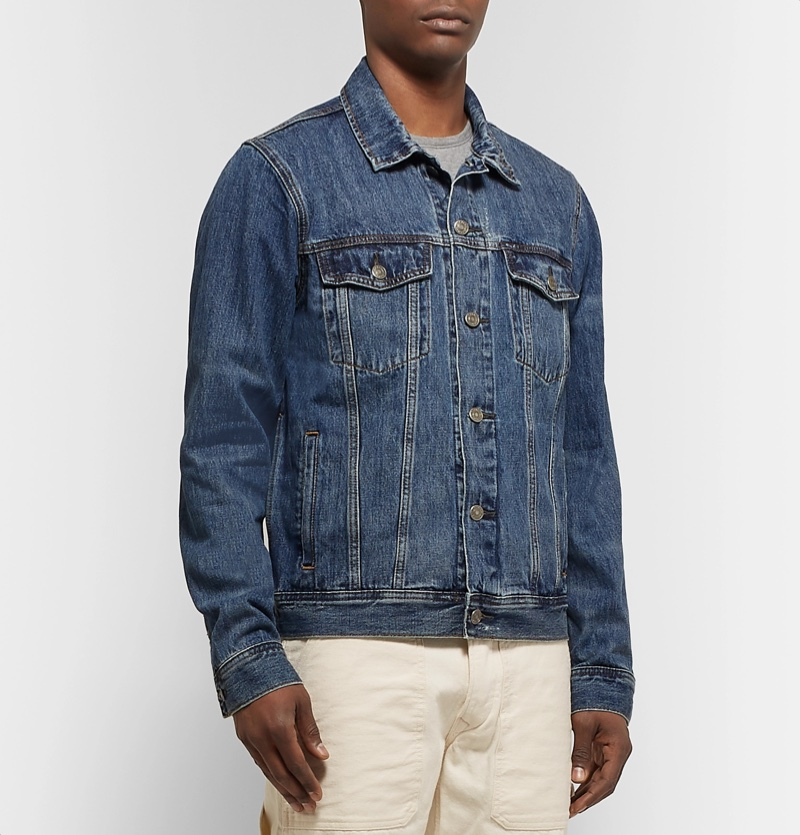 J. Crew Distressed Denim Jacket $100