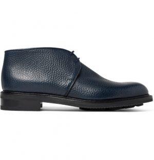 John Lobb - Grove Full-Grain Leather Chukka Boots - Men - Navy