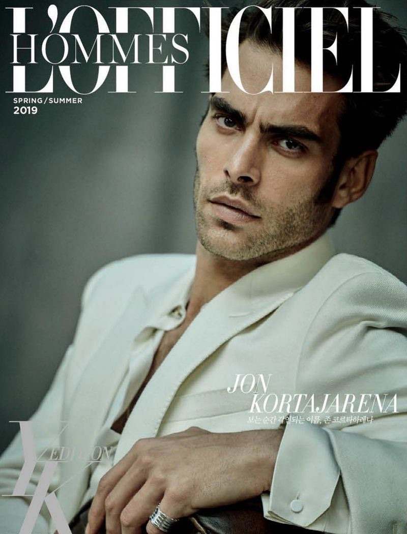 Jon Kortajarena is Chic for L'Officiel Hommes Korea Cover Story