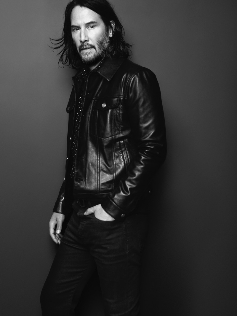 Keanu Reeves fronts Saint Laurent's spring-summer 2019 campaign.