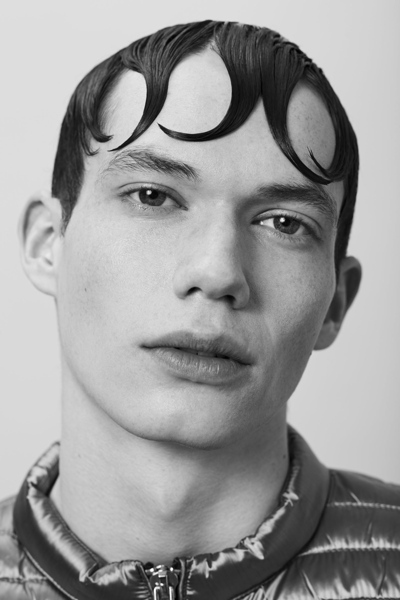 Nour Prims & Felipe Villagran Rock Quirky Hairstyles for L'Officiel Hommes Lithuania