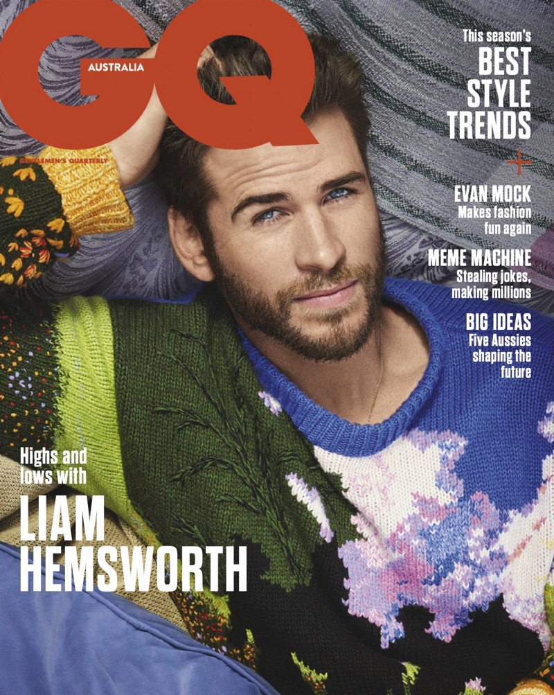 Liam Hemsworth covers the May 2019 issue of GQ Australia.