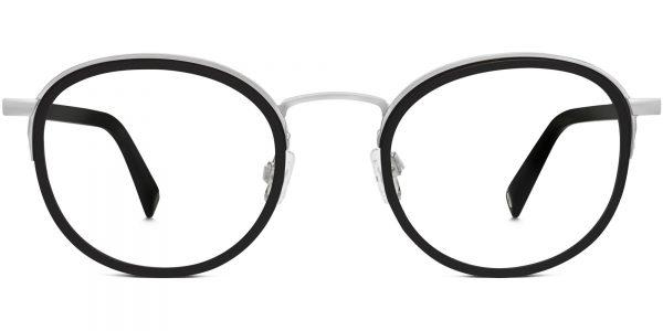 Logan m Eyeglasses in Jet Black Matte with Silver High-Index