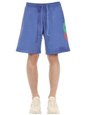 Logo Print Cotton Sweat Shorts