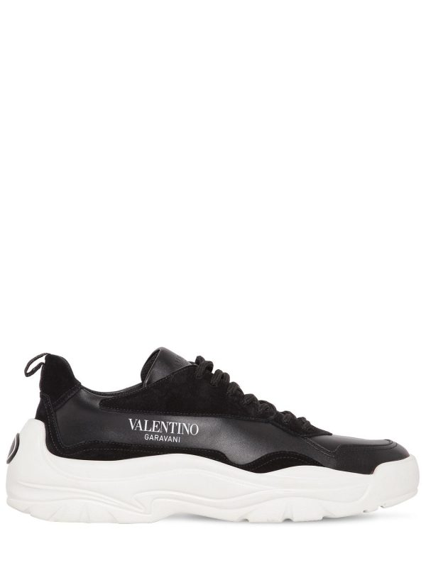 Low Top Gum Boy Leather & Suede Sneakers