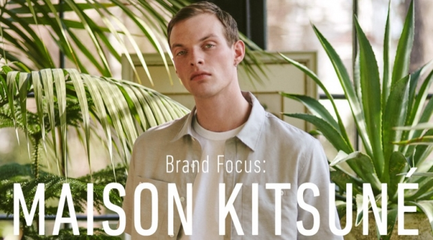 Rocky Harwood wears Maison Kitsuné for East Dane.