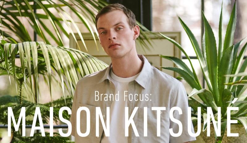 Rocky Harwood wears Maison Kitsuné for East Dane.