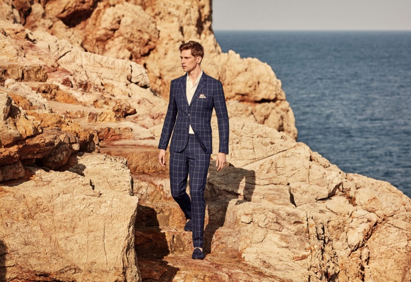 Mango taps Mathias Lauridsen to star in its latest men's tailoring guide.