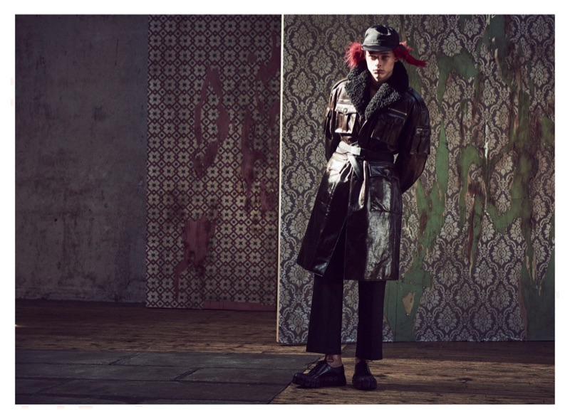 Marcel Korusiewicz Models Prada for Man About Town