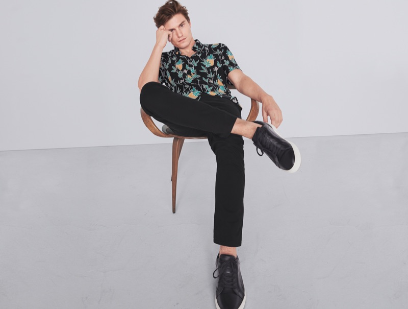 Oliver Cheshire dons smart summer style from Marks & Spencer.