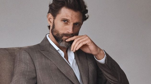 RJ Rogenski dons neutral tailoring from Massimo Dutti.