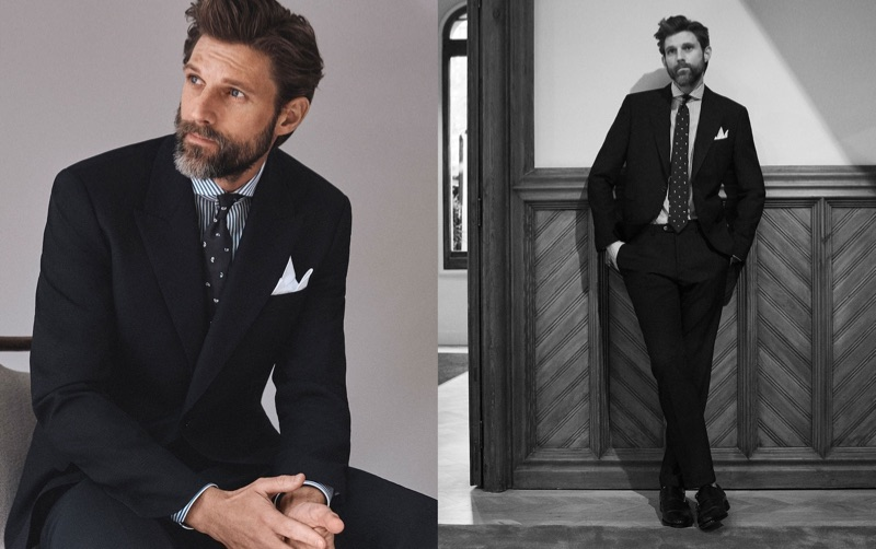A sharp vision, RJ Rogenski wears a suit by Massimo Dutti.