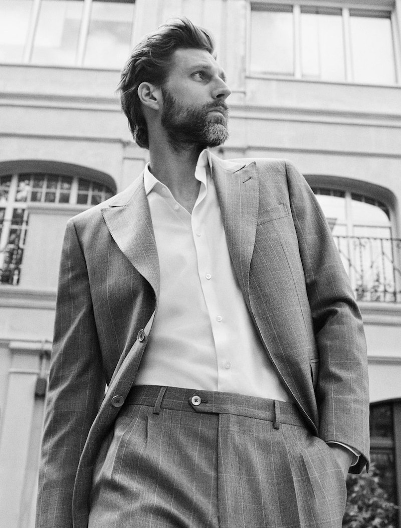 Dressed to impress, RJ Rogenski models Massimo Dutti.