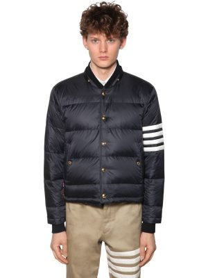 Matted Nylon Bomber Down Jacket