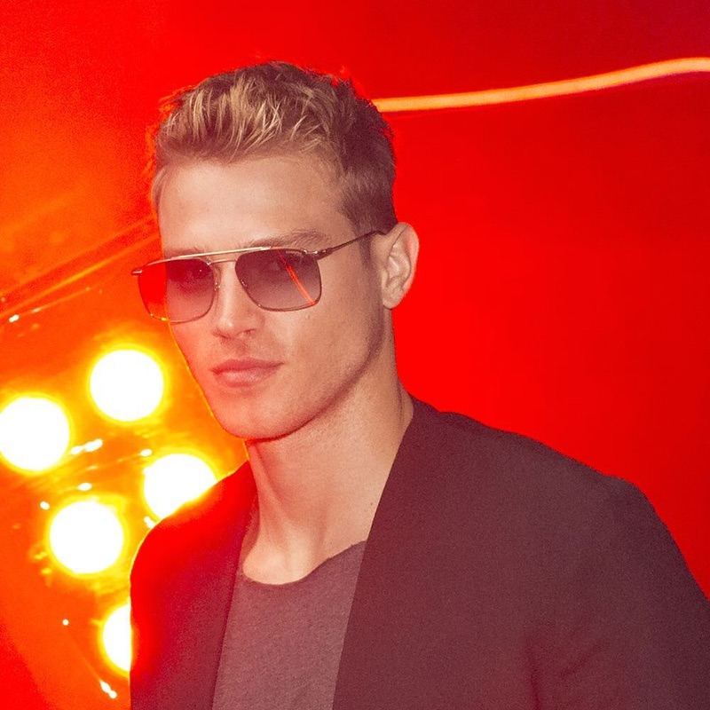 American model Matthew Noszka steals the spotlight as the face of Carrera for spring-summer 2019.