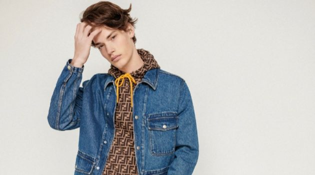 Matyás Neckár Dons Denim for GQ Portugal