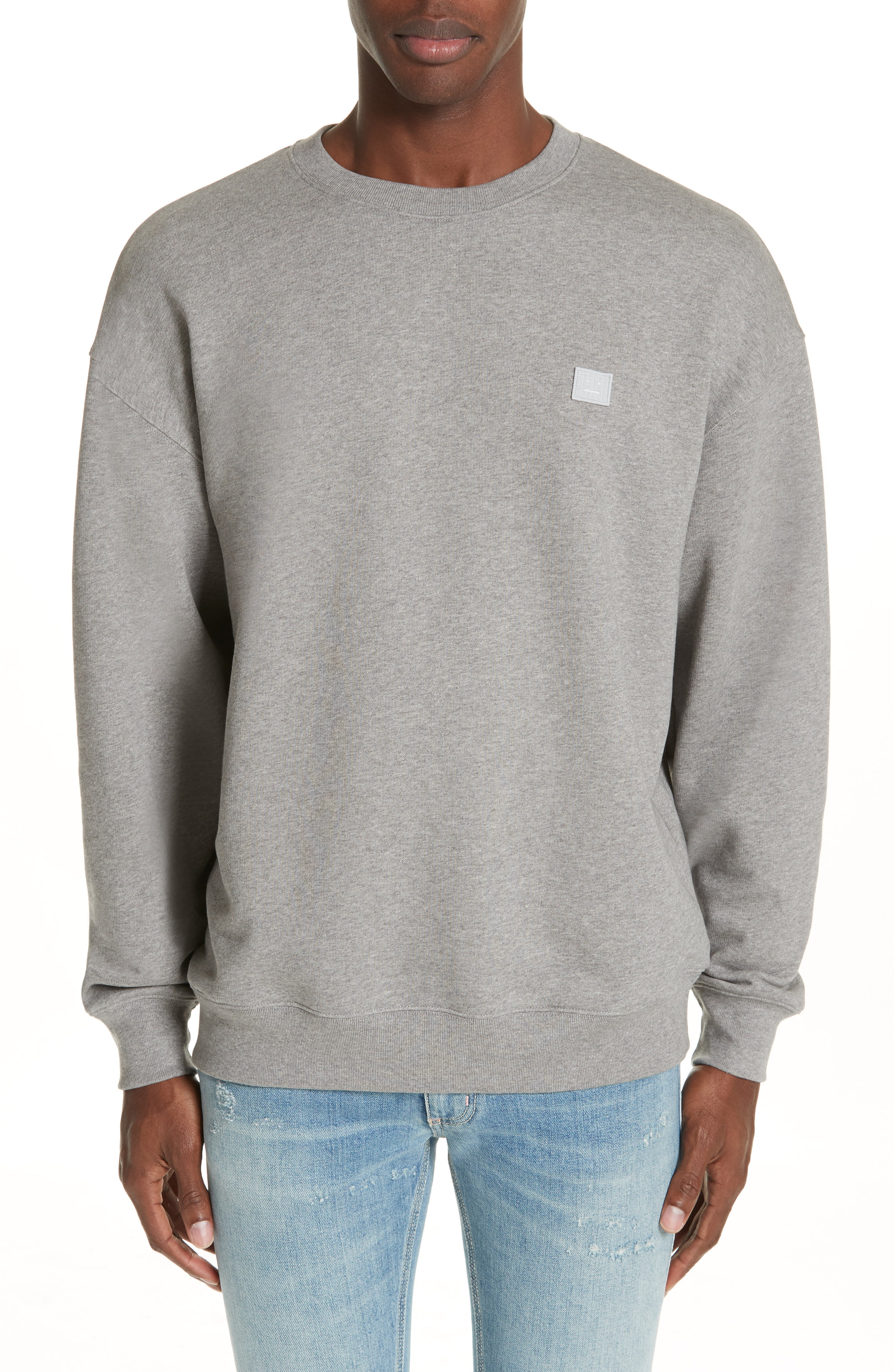 Men S Acne Studios Forba Face Sweatshirt Size X Large