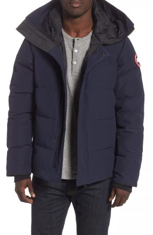 Men's Canada Goose 'Macmillan' Slim Fit Hooded Parka, Size Small - Blue