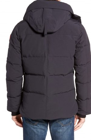 Men's Canada Goose 'Macmillan' Slim Fit Hooded Parka, Size X-Small - Blue