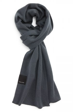 Men's Canada Goose Merino Wool Blend Scarf, Size One Size - Grey