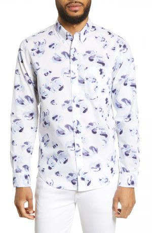 Men's Club Monaco Flores Des Aguas Print Sport Shirt