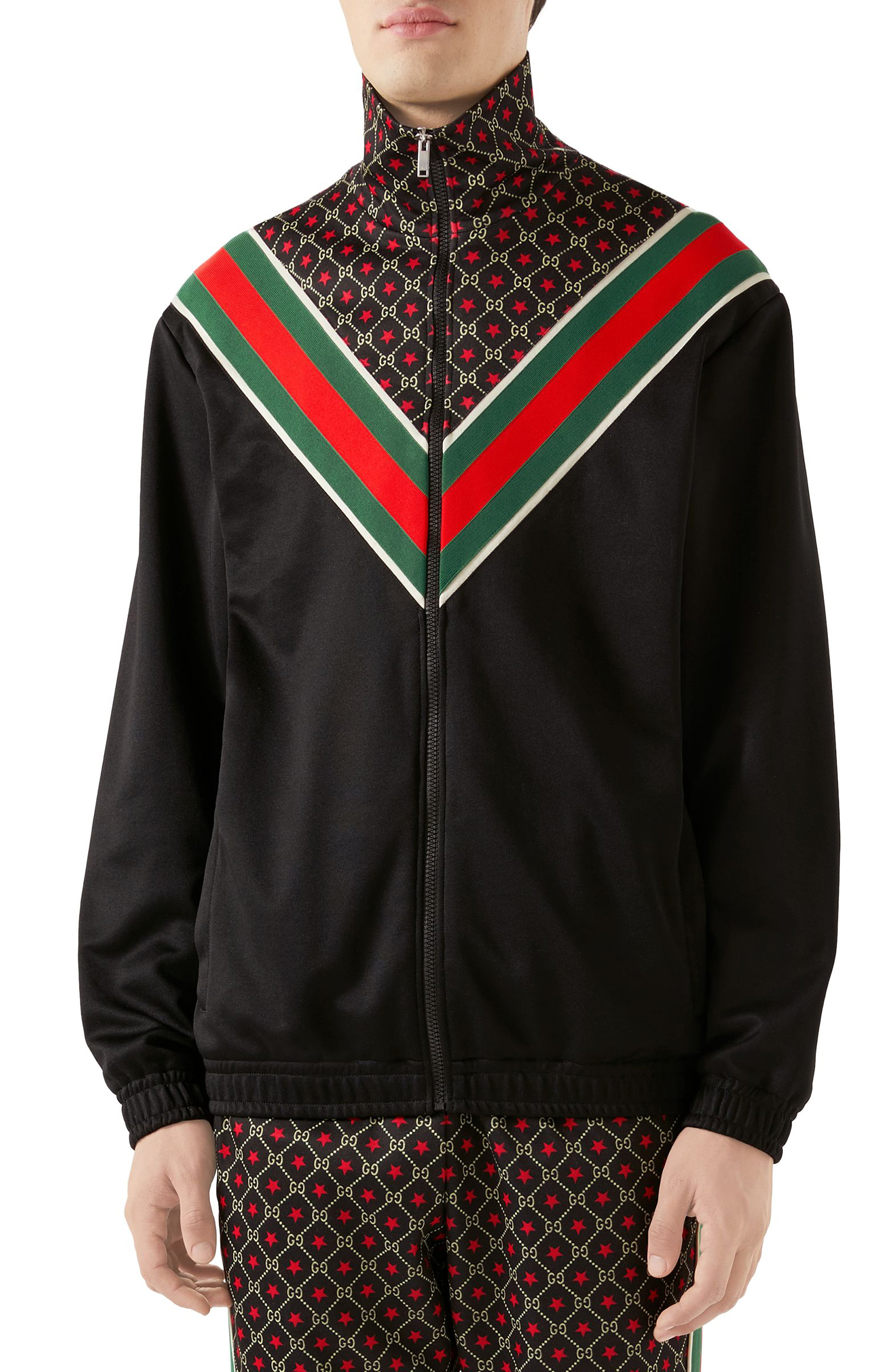 c385a44ea Men's Gucci Gg Star Print Technical Jersey Jacket | The Fashionisto