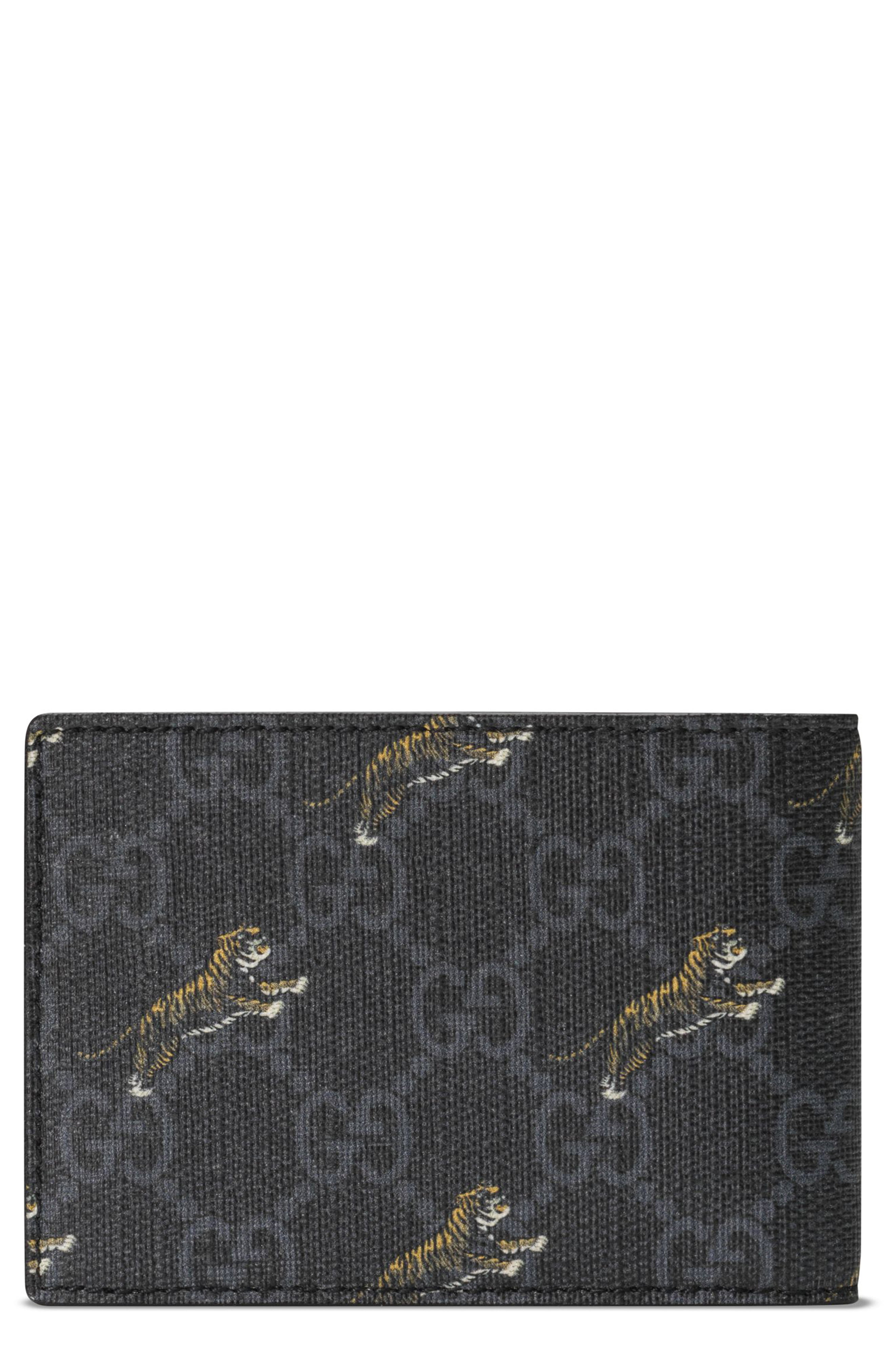 dc05c22998d3 Men's Gucci Tiger Print Bifold Wallet – | The Fashionisto
