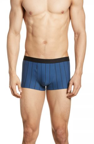 Men's Hanro Shadow Cotton Blend Trunks, Size Small - Blue