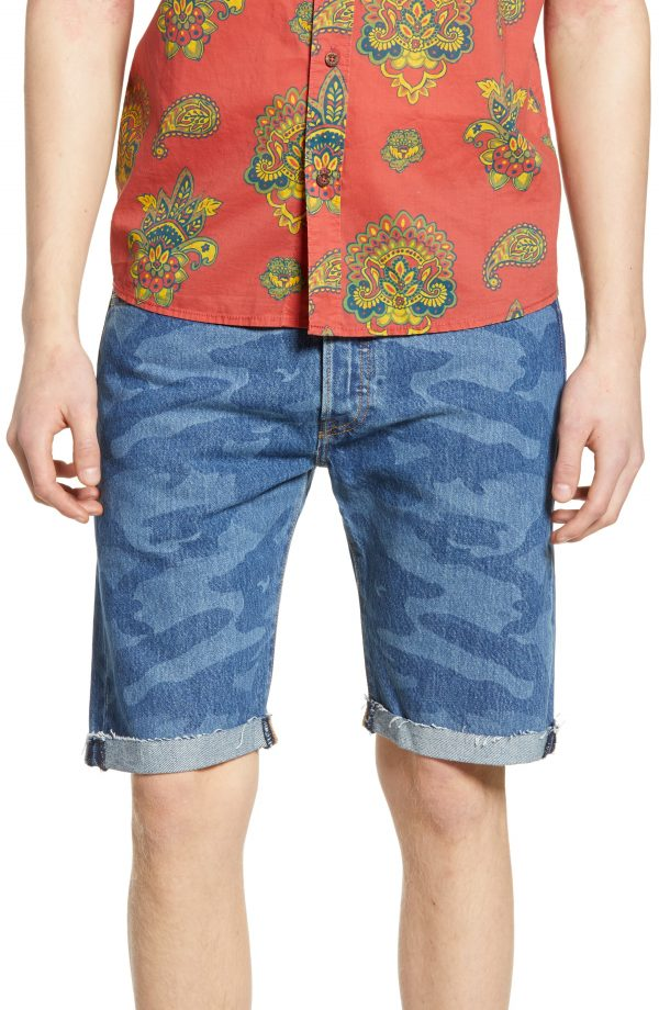 Men's Levi's 501 Cut Off Denim Shorts, Size 29 - Blue