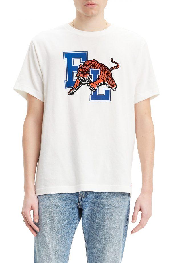 Men's Levi's X Justin Timberlake Tigers Graphic T-Shirt, Size Medium - White