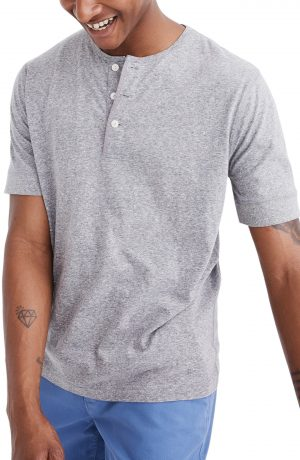 Men's Madewell Heathered Henley T-Shirt