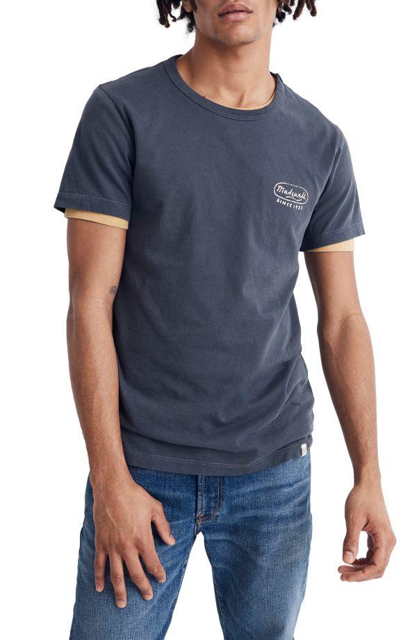 Men's Madewell Logo Allday Crewneck T-Shirt