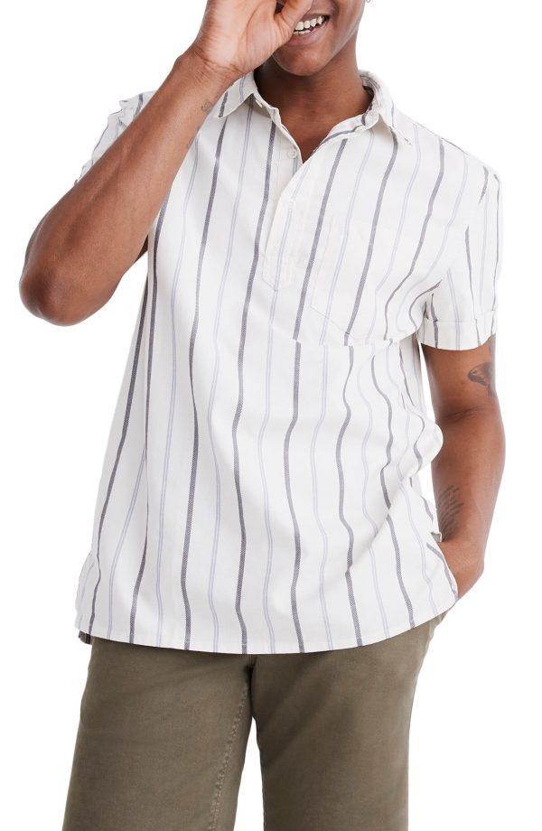 Men's Madewell Montpellier Stripe Pullover Work Shirt