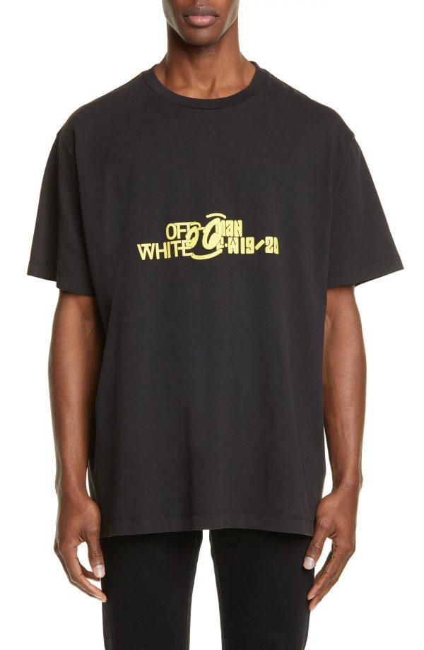 Men's Off-White Halftone Oversize Graphic T-Shirt