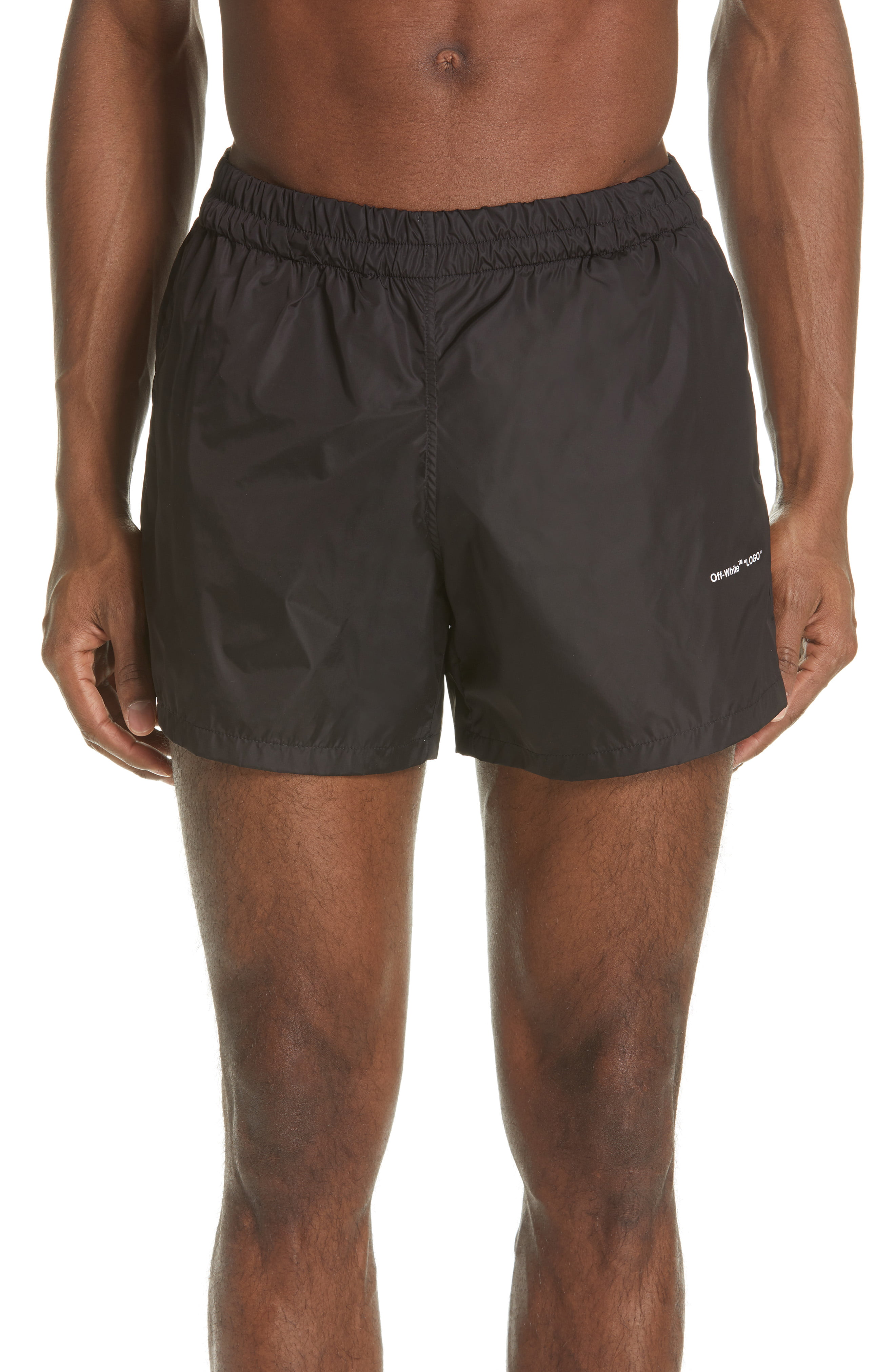 how to find choose official value for money Men's Off-White Swim Trunks, Size X-Large - Black