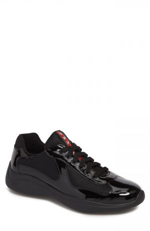 Men's Prada Americas Cup Sneaker, Size 9US / 8UK - Black