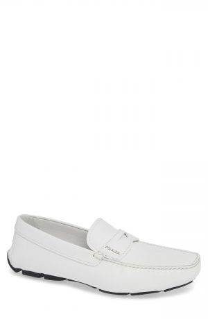 Men's Prada Driving Shoe, Size 7US / 6UK - White