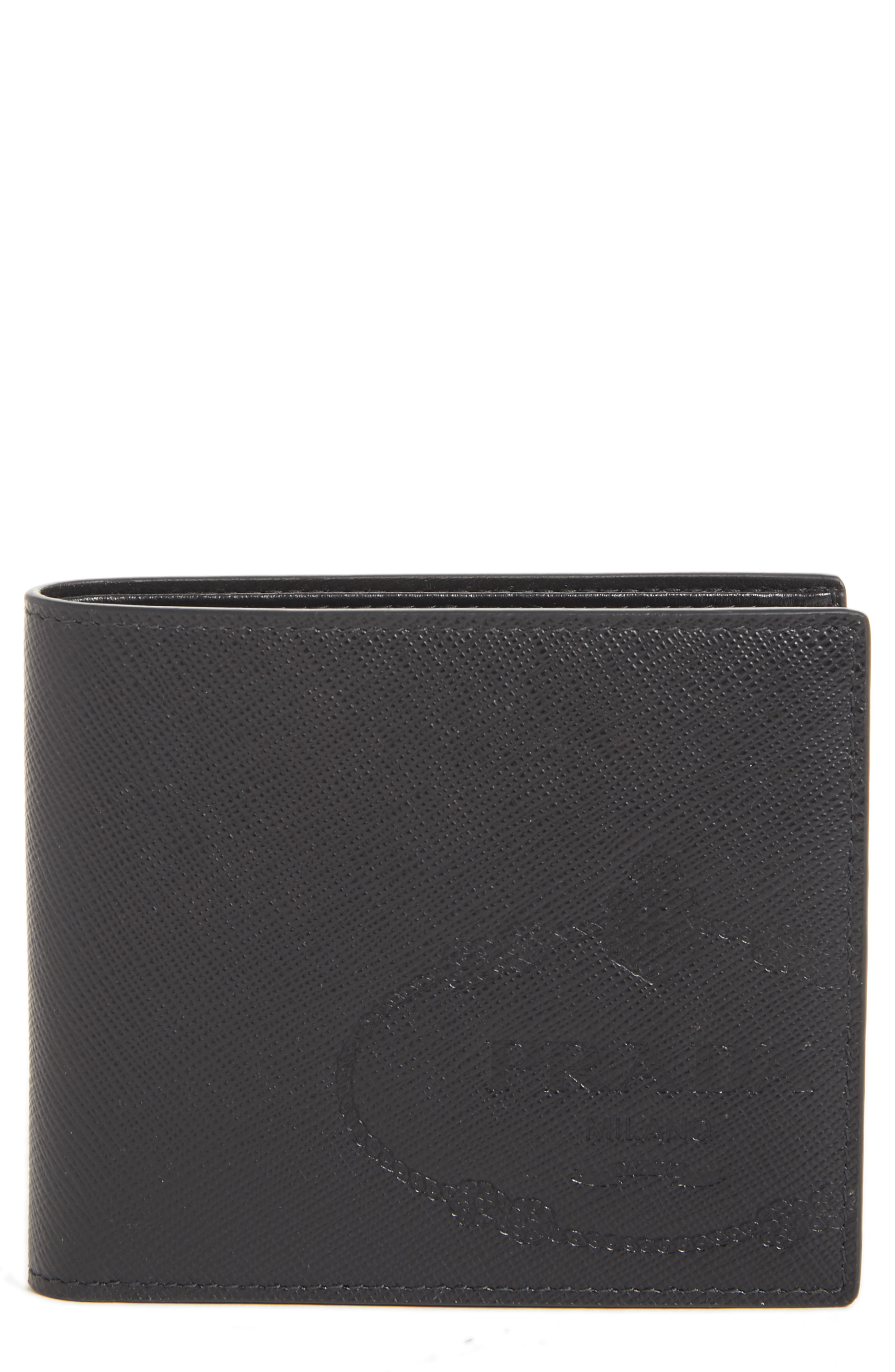 7adf0551 Men's Prada Saffiano Leather Bifold Wallet -