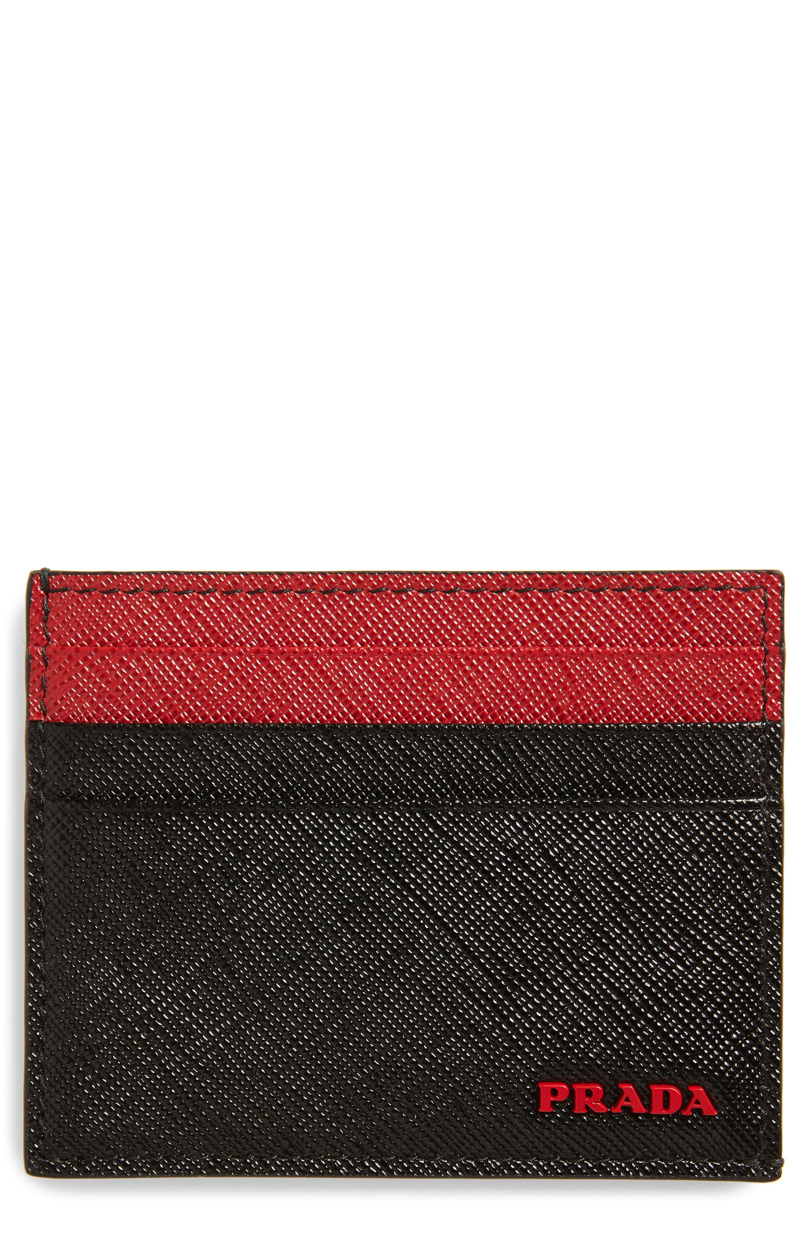 6df9388141df Men's Prada Saffiano Leather Card Case –   The Fashionisto