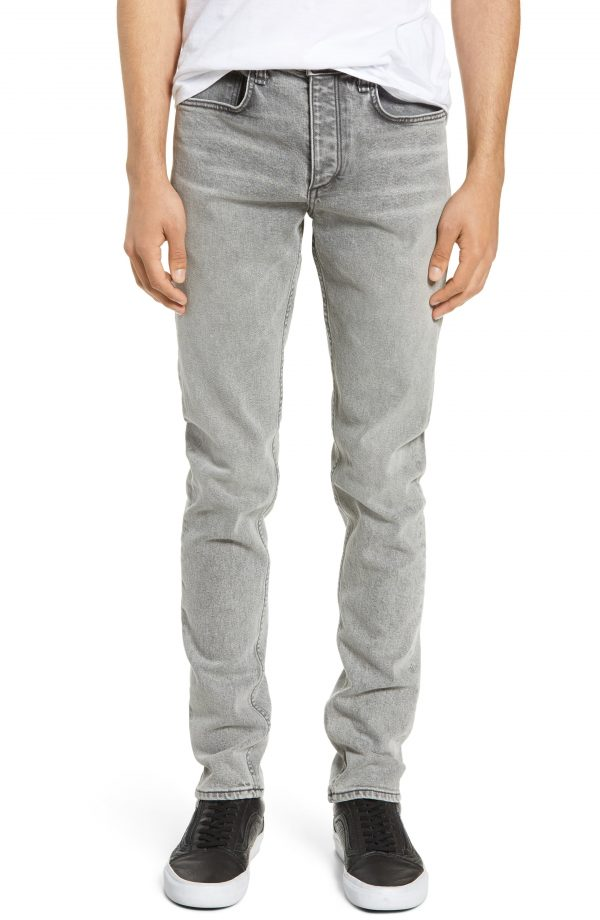 Men's Rag & Bone Fit 1 Skinny Jeans, Size 34 - Black