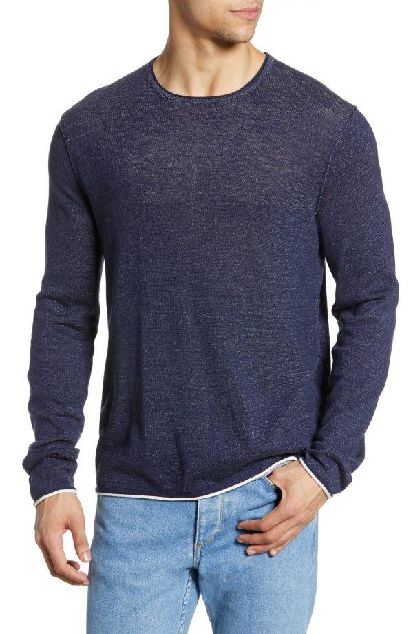 Men's Rag & Bone Trent Crewneck Sweater, Size Small - Blue