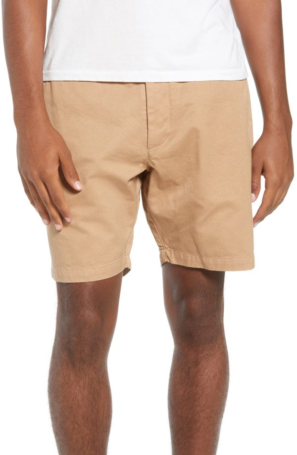Men's Saturdays Nyc Evan Shorts, Size 30 - Brown