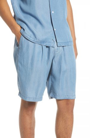 Men's Saturdays Nyc Keigo Chambray Shorts, Size Large - Blue