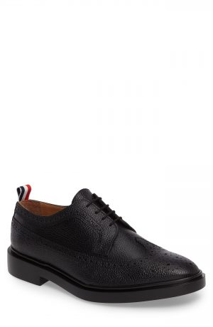 Men's Thom Browne Longwing Derby, Size 7 M - Black