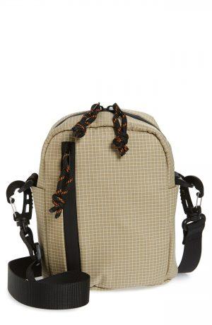 Men's Topman Check Print Messenger Bag - Beige
