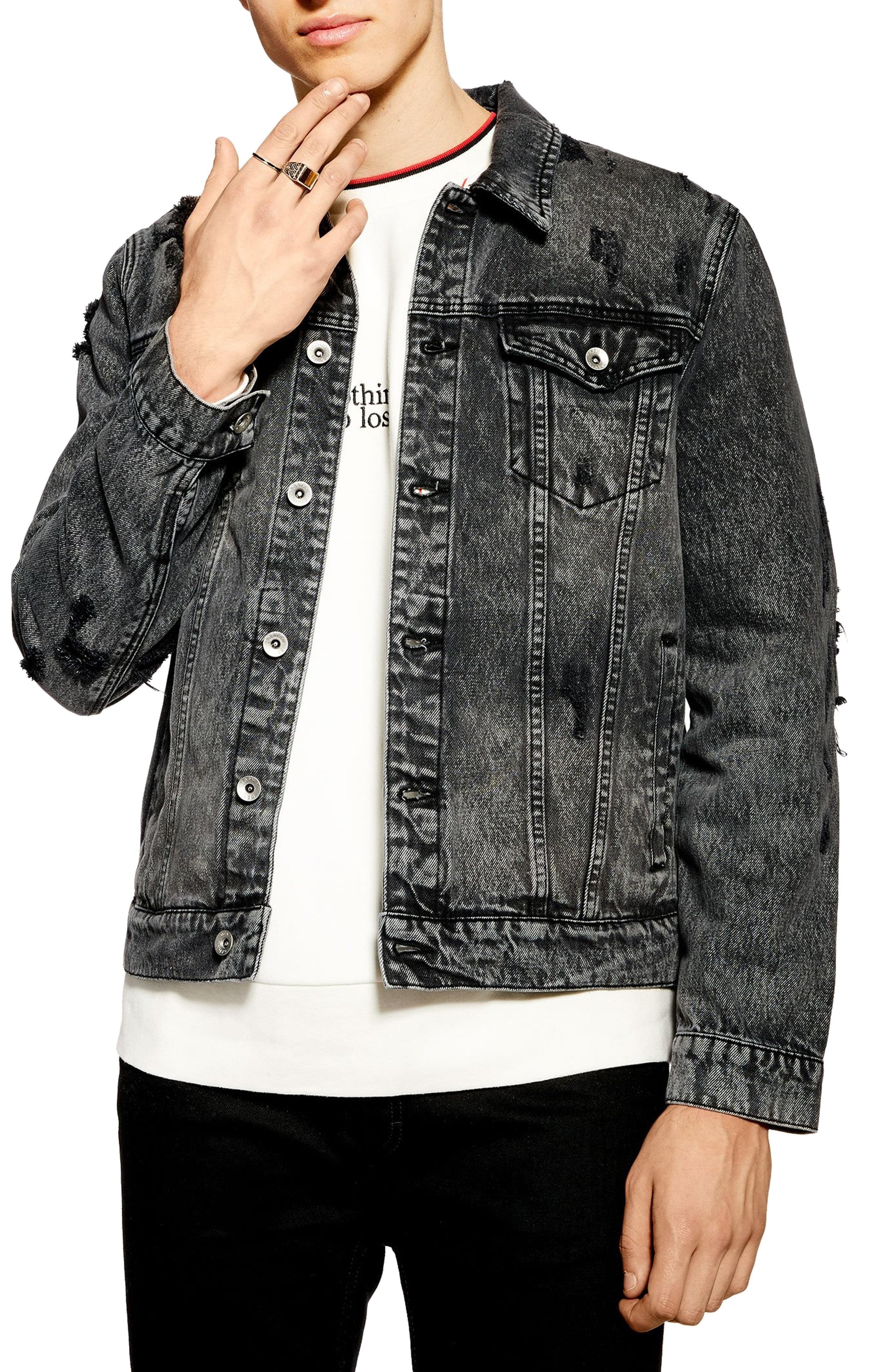 8baedcd4e83 Men's Topman Distressed Denim Jacket | The Fashionisto